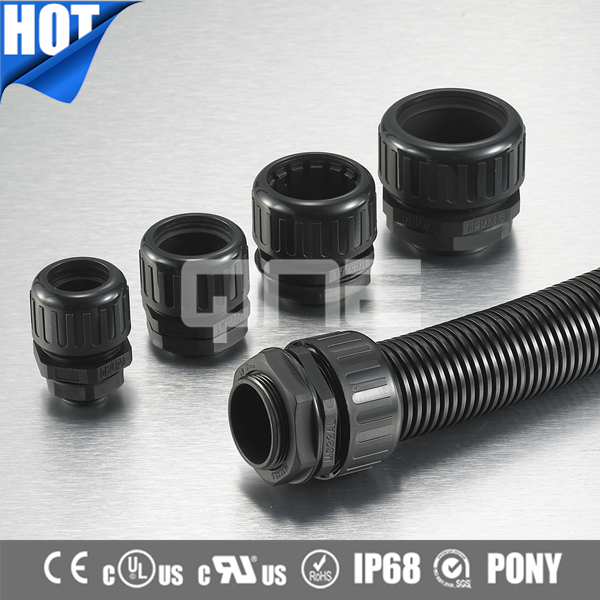 Factory Price Corrugated Plastic Conduit Connector With CE