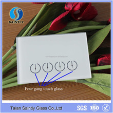 Decorative printing tempered touch screen wall cover glass switch panel