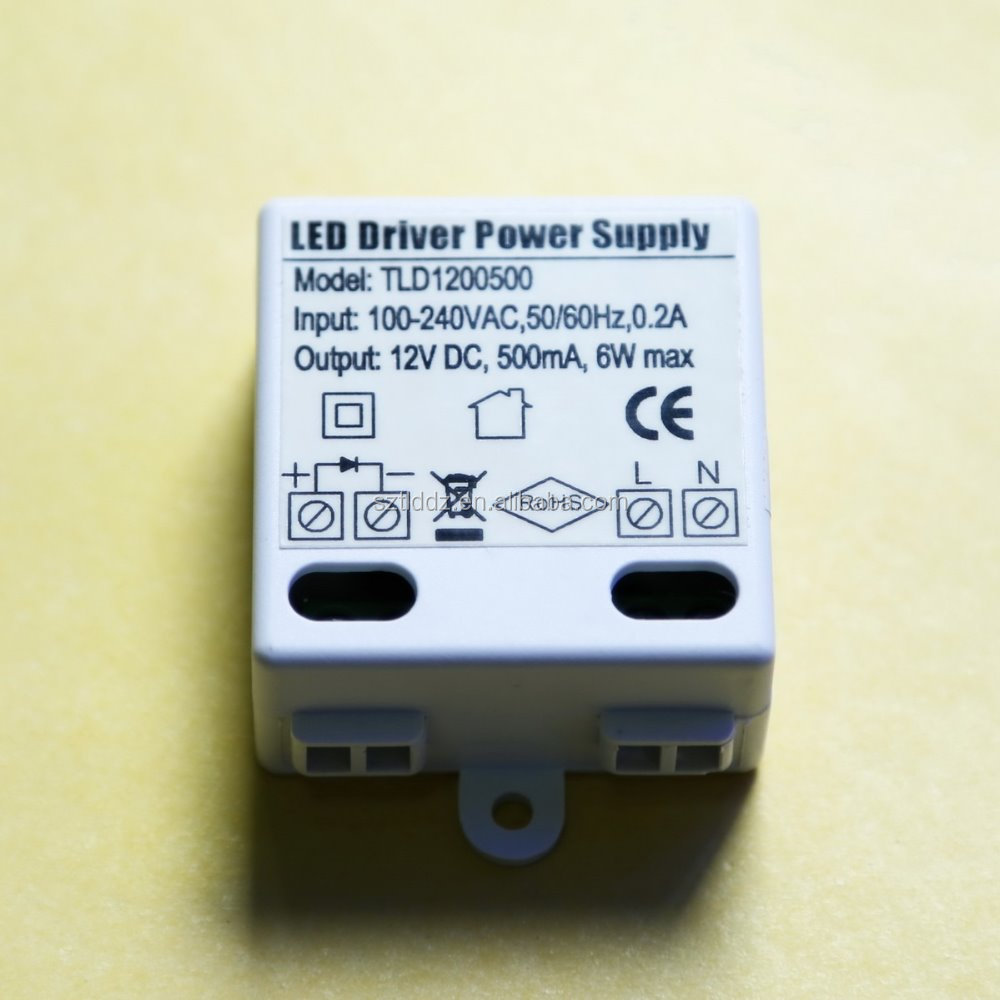 UL CE approved 6W led driver for constant voltage 12V led striplight of christmas tree