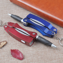 Unique Design Multifunction Mini Keychain Pens With Scissor