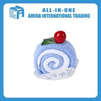 Creative cake towel gift towel with cherry decoration