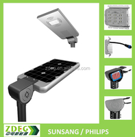 all in one solar powered street lamp for outdoor lighting