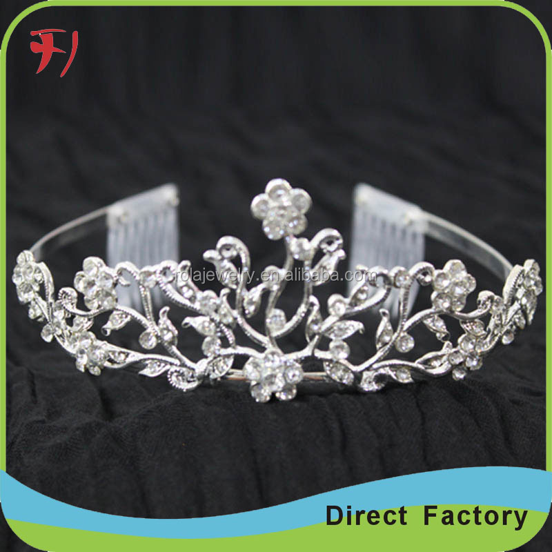 Wholesale discount real diamond happy new year girls tiara crown