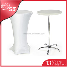 Factory direct high quality portable bar cocktail table with stretch cover
