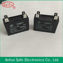 CBB61 capacitor for ceiling fan 1.5uf with TUV Approval with able wire type