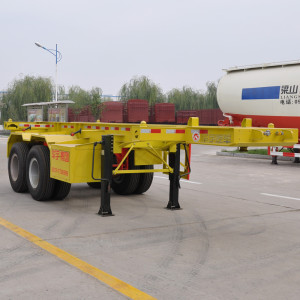 20ft container transport semi trailer skeleton type 2 axle container semi trailer