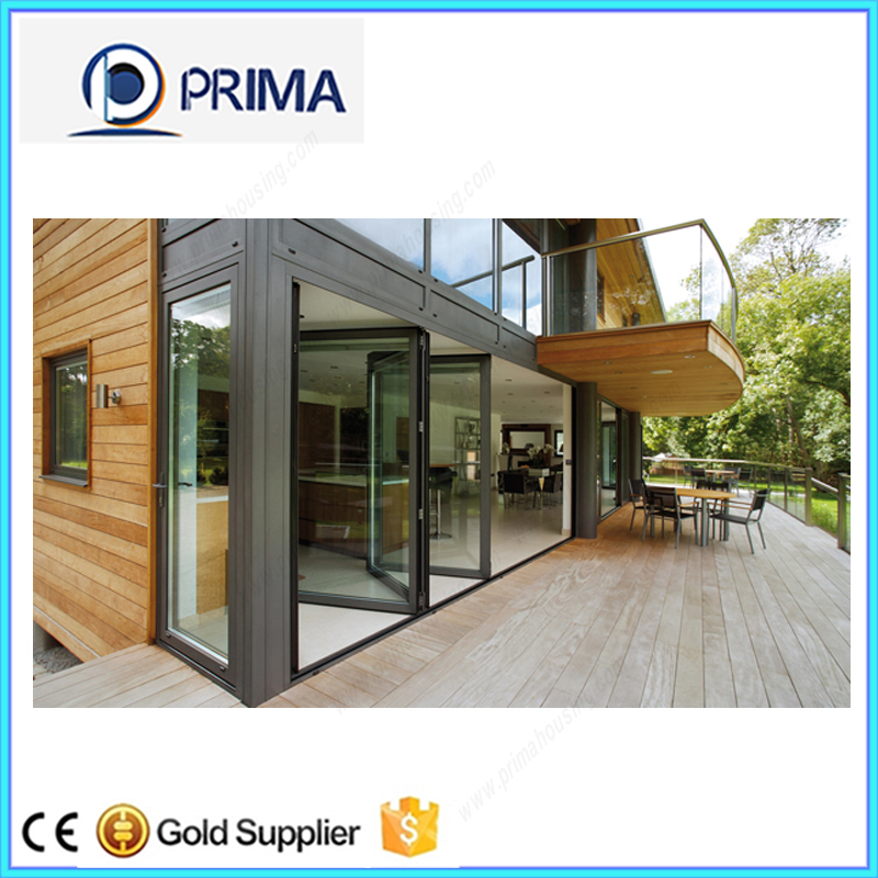 Transparent glass hot sale aluminium bi fold door