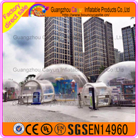 Customized clear inflatable lawn tent/inflatable transparent tent/camping inflatable bubble
