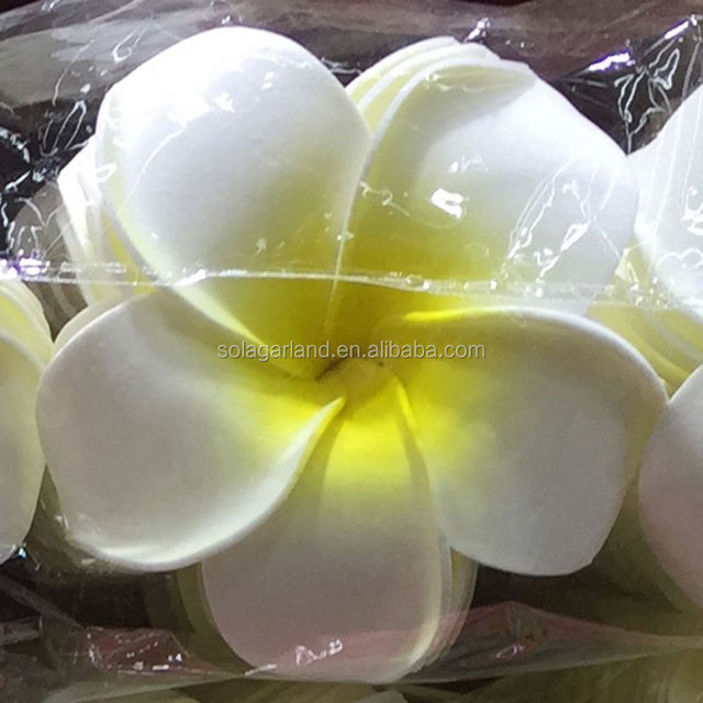 Foam Artificial Plumeria Rubra Flower Heads Frangipani Wedding Decoration Flowers