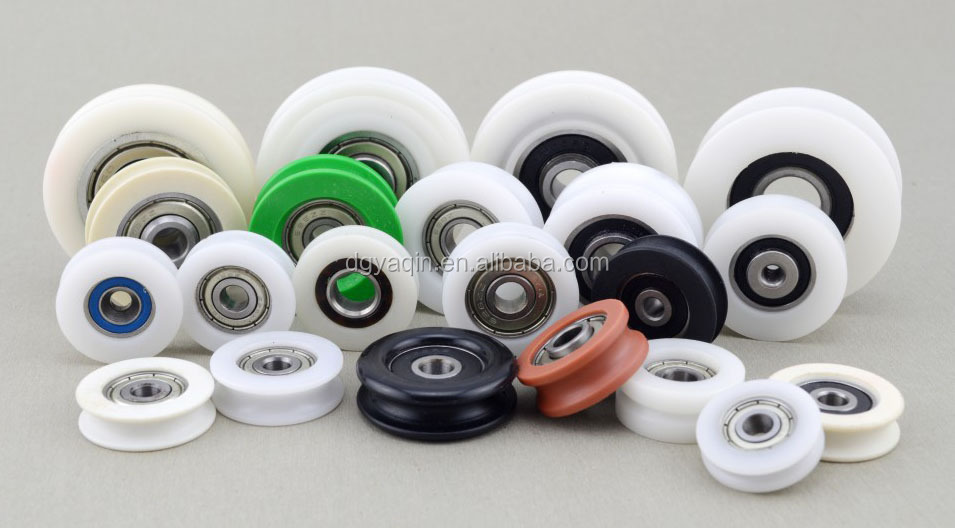 2016 High quanlity plastic sliding door track roller wheels sliding gate window hanging roller