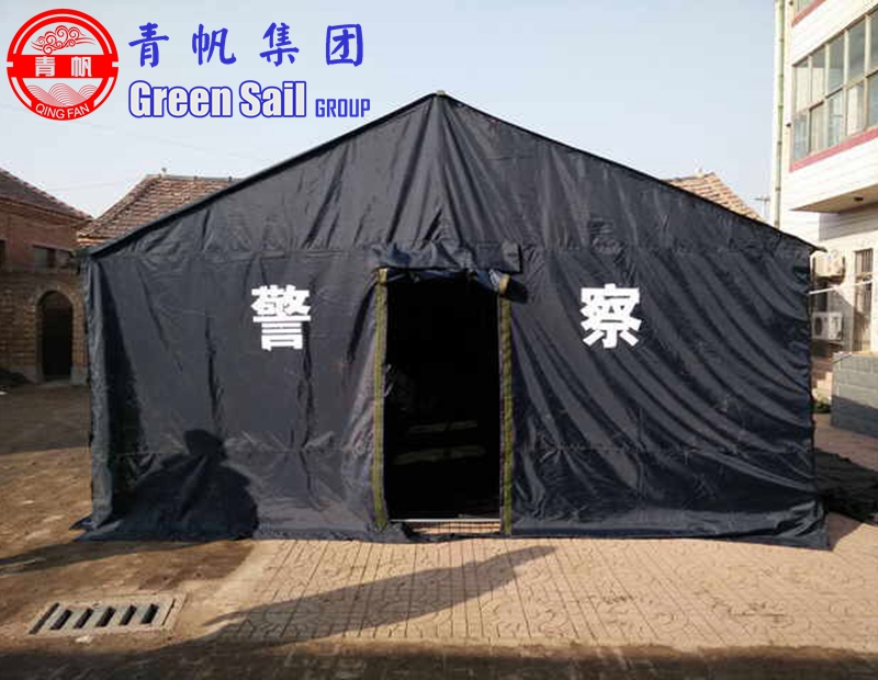 6m*5m 12 Person Black Police Disater Relief Camping Tent