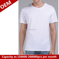 Haosheng cheap china wholesale clothing specialized plain 100% cotton white overseas men's t shirts