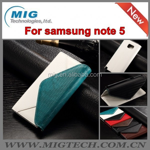 Phone cover Magnetic PU Leather wallet case Flip Envelope style with Stand Card slot Case For Samsung galaxy Note 5