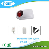Wireless security alarm sirene 220v / police siren with strobe light for fire alarm system PE-516R