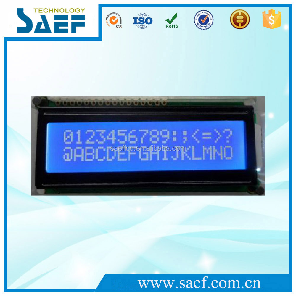 COB16x2 lcd display 16 pins with blue background white display 1602