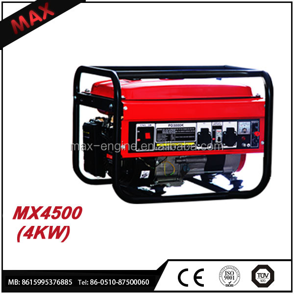 Hot Sale 4kw Diesel Engine Parts Gasoline Generator For Home