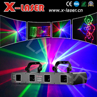 New four heads red green rose and blue stage laser light/ RGRB four head DJ beam light