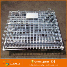 Large Industrial Stackable Storage Wire Mesh Pallet Liquid Container