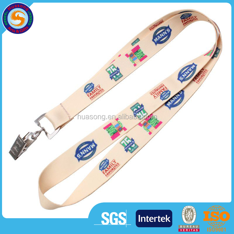 Personalized cheap custom heat transfer printed polyester sublimation lanyard