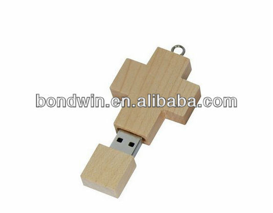 wooden cross usb pendrive