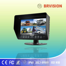 7 inch waterproof car quad split screen monitor