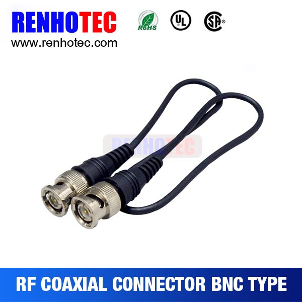 Audio video male plug bnc cable connector
