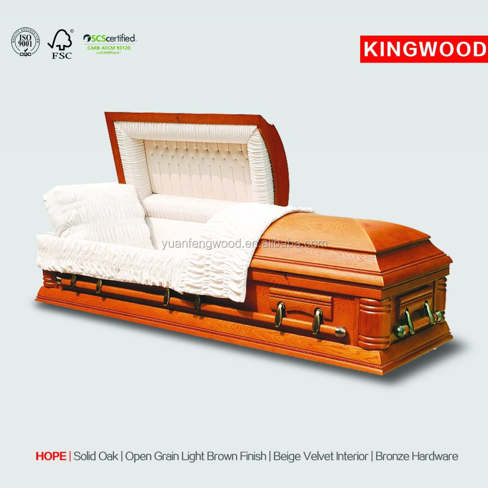 HOPE hot sale solid coffins adult coffin