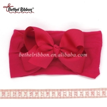 Big bow novelty silk infant headbands for baby girls
