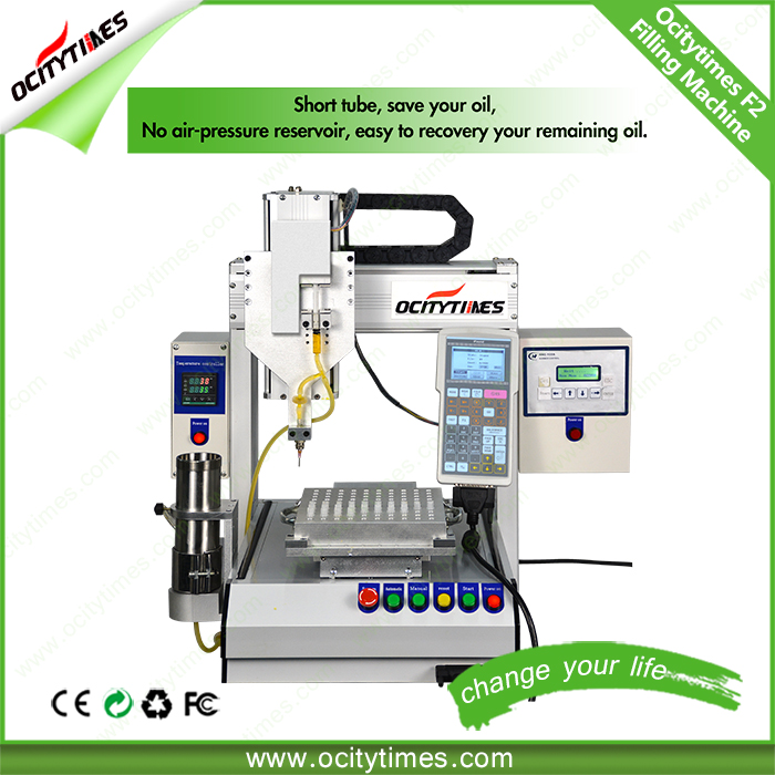 Ocitytimes OEM available F2 beverage filling machine/perfume filling machine/small bottle filling machine