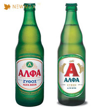 Custom logo high quality printing transparent beer label sticker