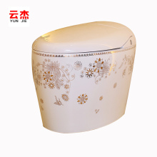 smart toilet flower pattern ceramic bathroom toilet