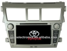 2 din 7 inch special car audio and video for toyota new vios 2010 with GPS BT TV steering wheel control