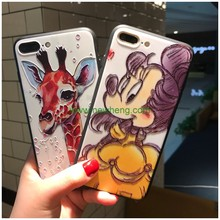 Sublimation high quality 3D Relief Pattern TPU+PC Phone Case For iPhone 7 plus