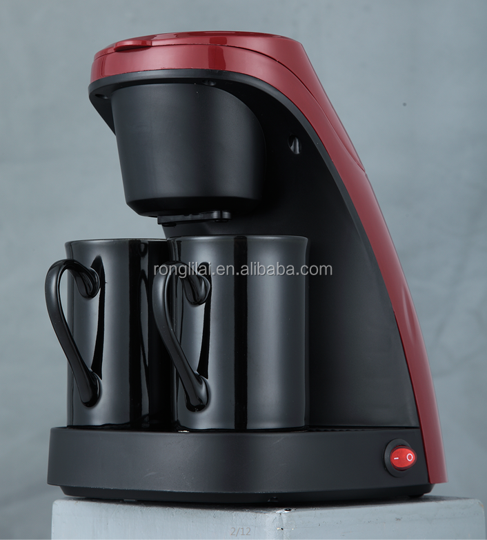 Twocup electric coffee makers with two ceramic cups cooks professional