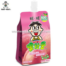 Want Want Peach Juice with Coconut Meat Drinks
