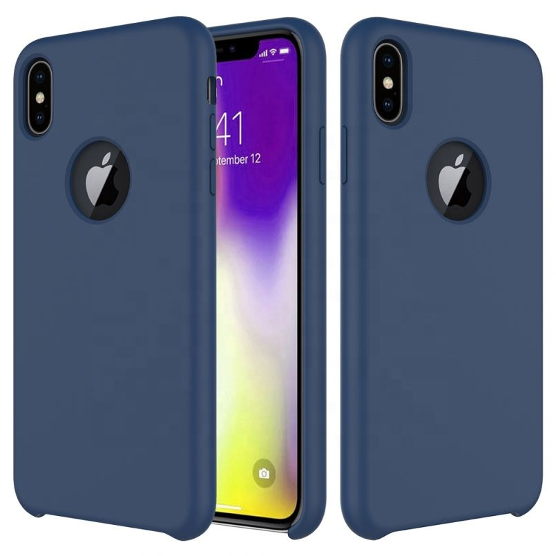 For iPhone Xs Max Original Liquid Silicone Case <strong>Microfiber</strong> Silicone Mobile Phone Cover for iPhone Xs Max XR