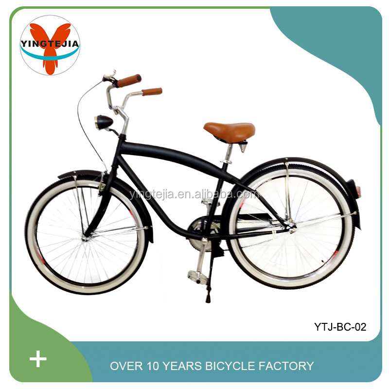 "26"" wheel size adult bycicle bike with good quality bicycle parts and beach cruiser bike frame"