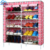 10 Tiers Shoe Rack 50 Pairs Non-woven Fabric Shoe Tower Organizer Cabinet Black