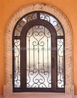 SE-S028 Chinese Factory Wrought Iron Doors and Windows