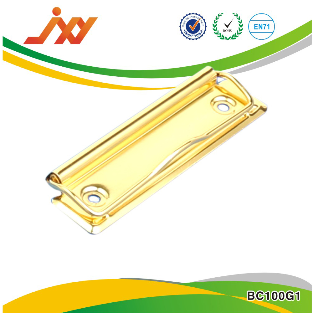 gold color metal board clip for pvc board