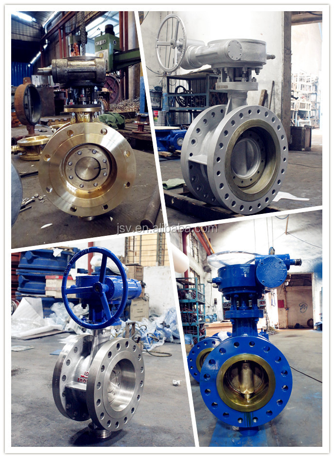 Corrosion Resistant Stainless Steel Manual triple offset butterfly valve