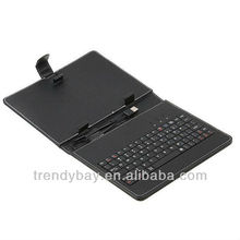 qwerty keyboard leather case for tablet pc