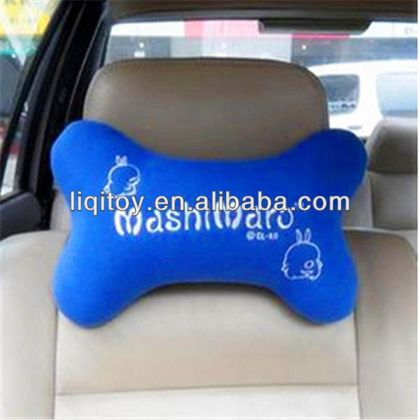 Custom Bone Shaped Plush Car Headrest Cushion And Pillow Shenzhen