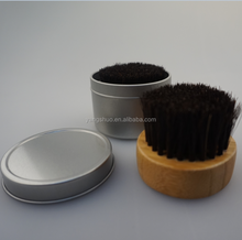 Bamboo beard brush horse wholesale with tin box pack from Felicare