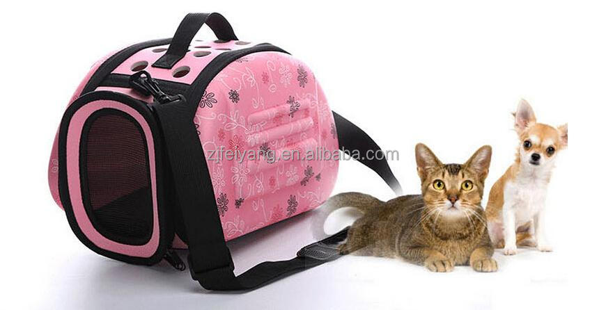 Convenient Soft Sided Portable Pet Supply fabric carrier EVA bag