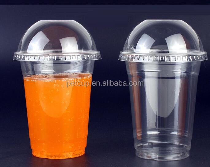 American 16oz Disposable Clear Dome Lid PET Plastic Cup