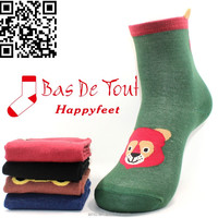 wholesale comfortable cute animal simple style combed cotton socks