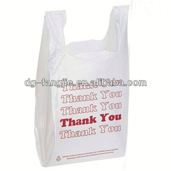 T-049 plastic Biodegradable HDPE vest bag for shopping with printing