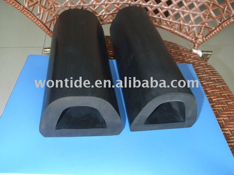 Extruded D-Shaped Rubber Dock Bumpers(EPDM)