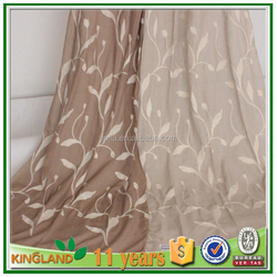 2015 manufactory wholesale embroidered dubai curtain fabric indian window curtains made in iran